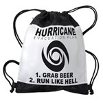 Hurricane Evacuation Plan Drawstring Bag