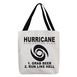 Hurricane Evacuation Plan Polyester Tote Bag