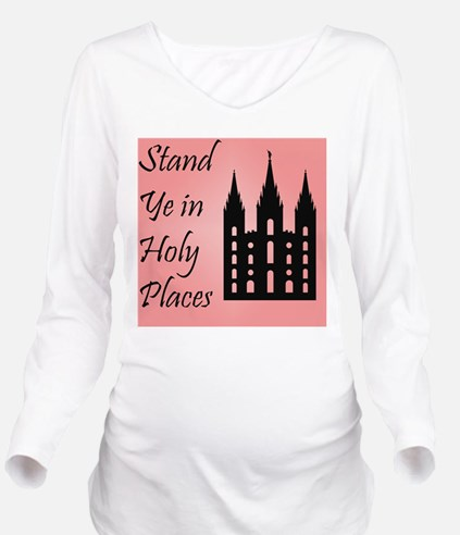Stand Ye In Holy Pla Long Sleeve Maternity T-Shirt