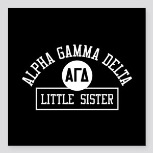 "Alpha Gamma Delta Little Square Car Magnet 3"" x 3"""