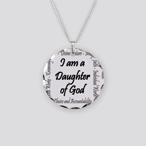 I Am a Daughter of God Necklace Circle Charm