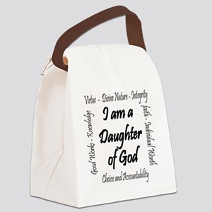 I Am a Daughter of God Canvas Lunch Bag