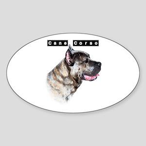 Corso Head Oval Sticker