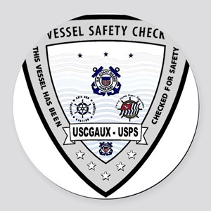 Vessel Safety Check Round Car Magnet