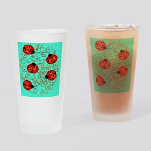 ladybug jewelry case Drinking Glass