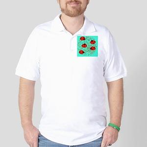 ladybug jewelry case Golf Shirt