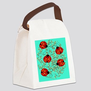 ladybug jewelry case Canvas Lunch Bag