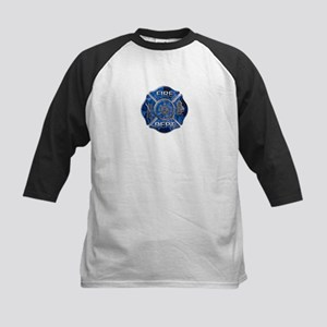 Maltese Cross-Blue Flame Kids Baseball Jersey