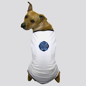 Maltese Cross-Blue Flame Dog T-Shirt