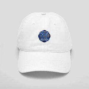 Maltese Cross-Blue Flame Cap