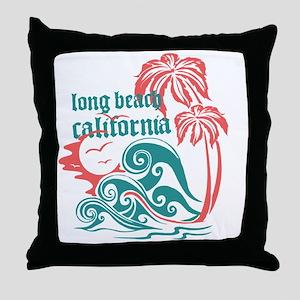 Wavefront Long Beach Throw Pillow