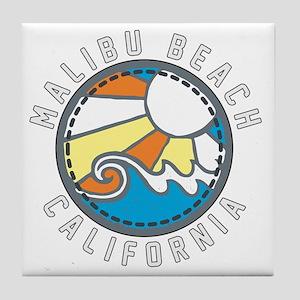 Malibu Wave Badge Tile Coaster