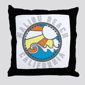 Malibu Wave Badge Throw Pillow