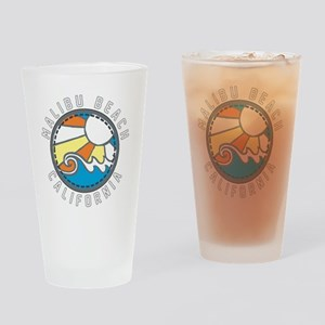 Malibu Wave Badge Drinking Glass