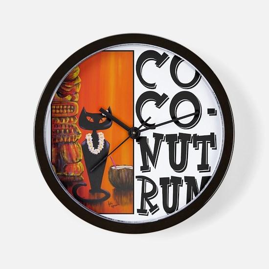 Coconut Rum Wall Clock