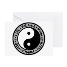 Yin & Yang Meanings Greeting Cards (Pk of 10)