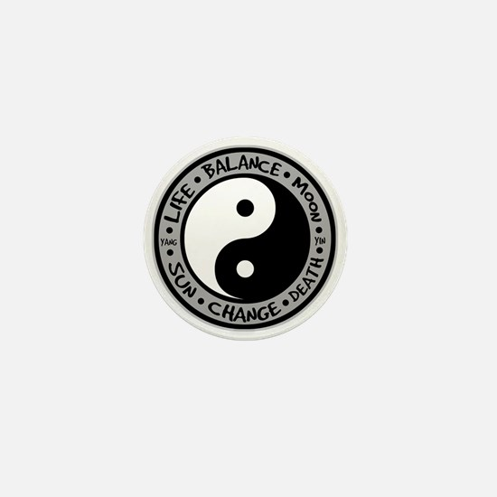 Yin & Yang Meanings Mini Button