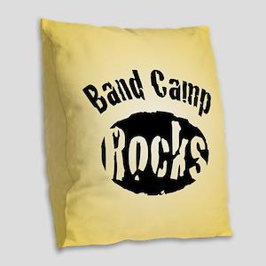 Band Camp Rocks Burlap Throw Pillow