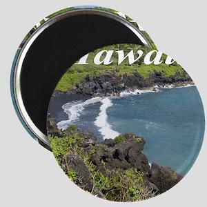 Black Sand Beach Maui Magnet