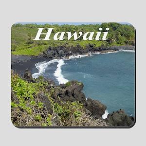 Black Sand Beach Maui Mousepad