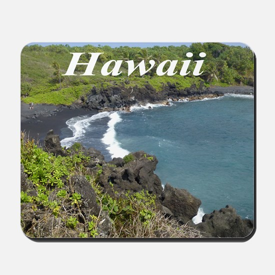 Black Sand Beach Maui Mousepad