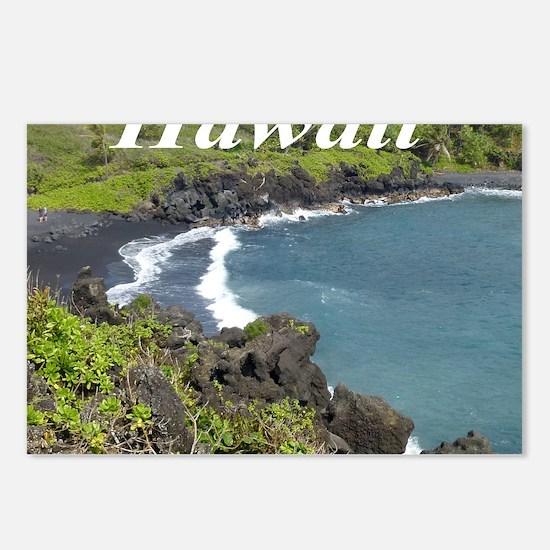 Black Sand Beach Maui Postcards (Package of 8)