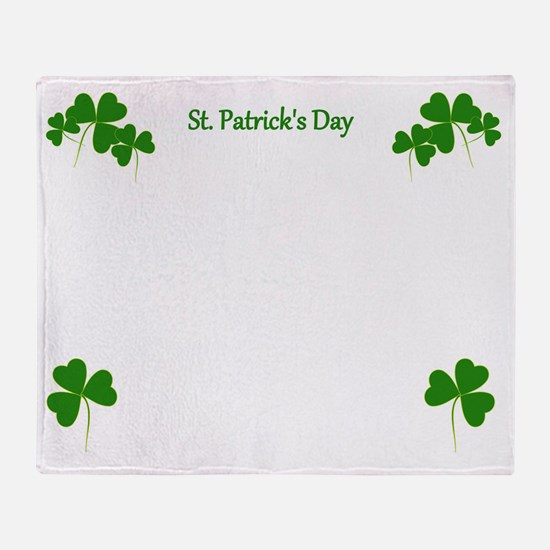 Lucky Irish Shamrocks Throw Blanket