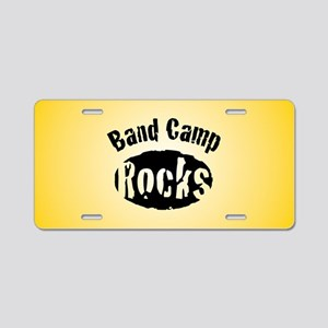 Band Camp Rocks Aluminum License Plate