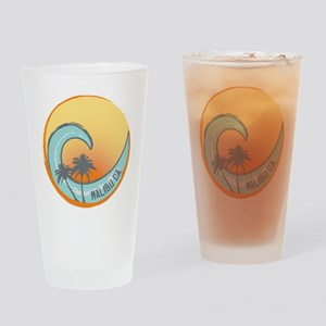 Malibu Sunset Crest Drinking Glass