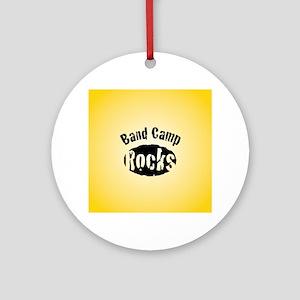 Band Camp Rocks Round Ornament