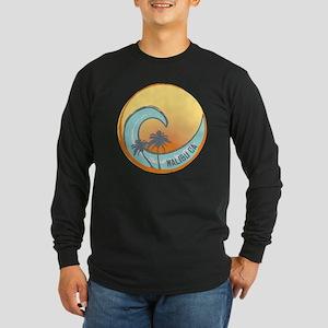 Malibu Sunset Crest Long Sleeve Dark T-Shirt