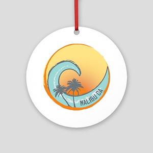 Malibu Sunset Crest Round Ornament