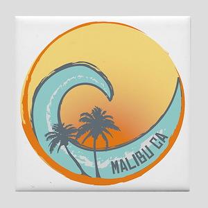 Malibu Sunset Crest Tile Coaster