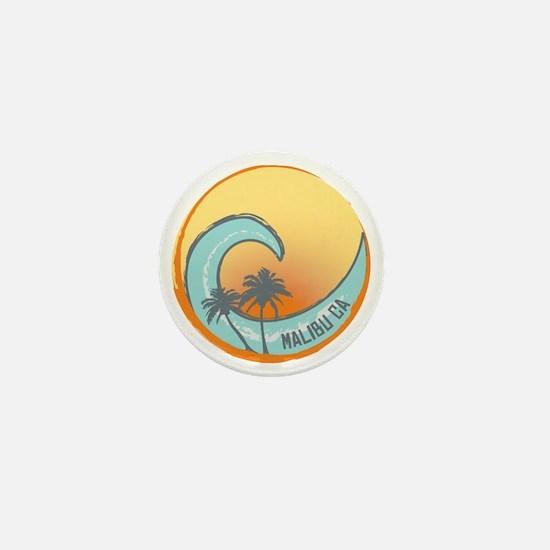 Malibu Sunset Crest Mini Button