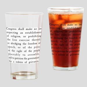 First Amendment Freedom of Speech Drinking Glass