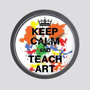 Keep Calm  Teach Art Wall Clock