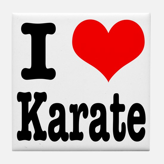 I Heart (Love) Karate Tile Coaster