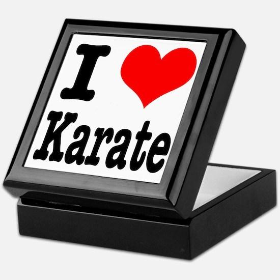 I Heart (Love) Karate Keepsake Box