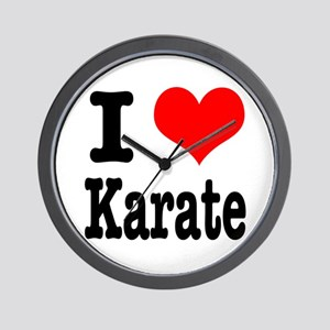 I Heart (Love) Karate Wall Clock