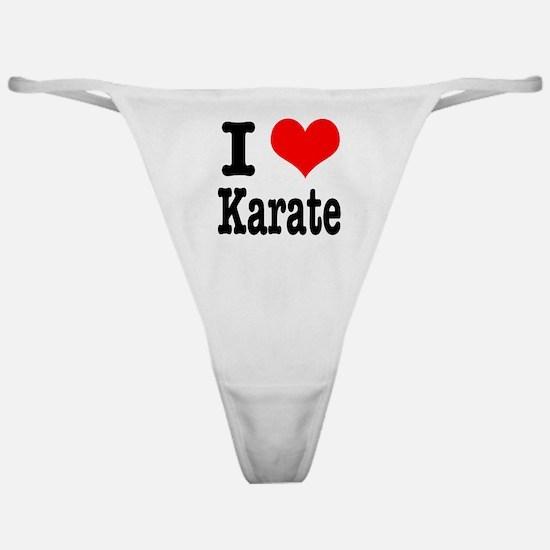 I Heart (Love) Karate Classic Thong