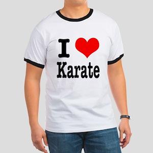 I Heart (Love) Karate Ringer T