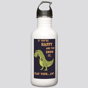 t-rex-clap-2-CRD Stainless Water Bottle 1.0L