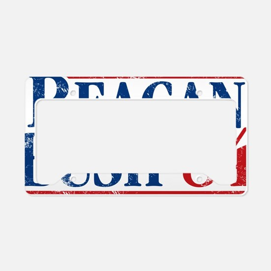 Distressed Reagan - Bush '84 License Plate Holder