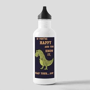 t-rex-clap-2-STKR Stainless Water Bottle 1.0L