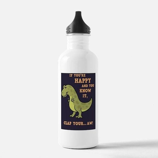t-rex-clap-2-LG Water Bottle