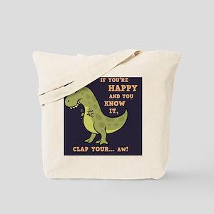 t-rex-clap-2-TIL Tote Bag