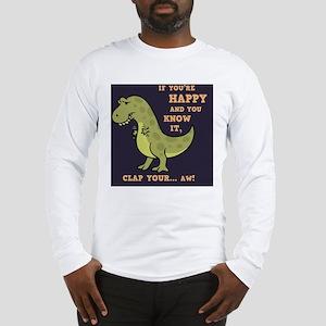 t-rex-clap-2-TIL Long Sleeve T-Shirt