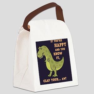 t-rex-clap-2-TIL Canvas Lunch Bag