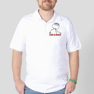 Like A Boss Meme Golf Shirt