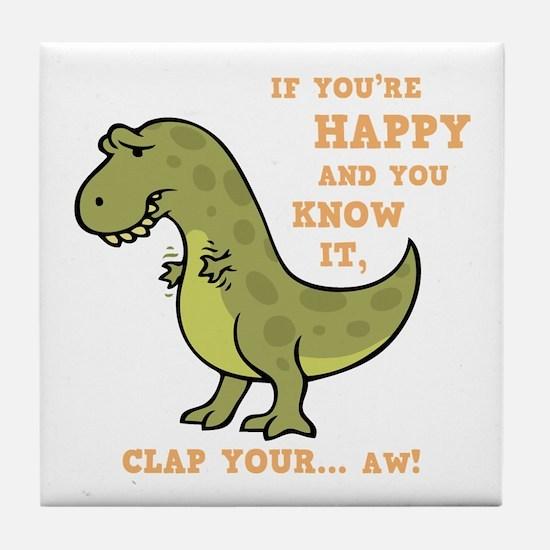 t-rex-clap-2-DKT Tile Coaster